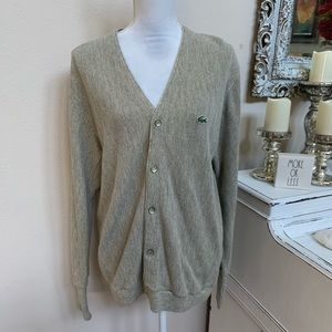 Vintage Izode Lacost Cardigan Size M